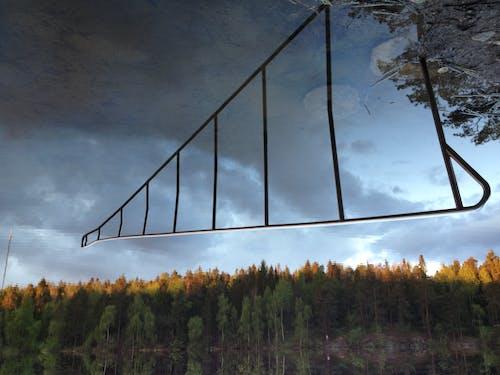 Immagine gratuita di acqua, alberi, cielo, ringhiera