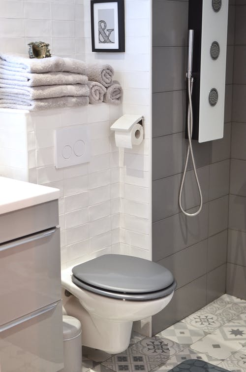 White and Gray Shower Heater