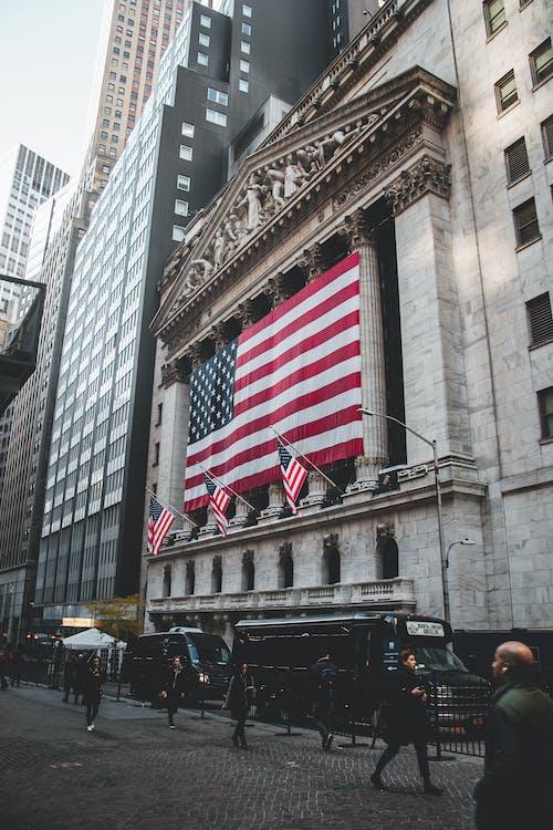 Kostenloses Stock Foto zu 4k wallpaper, amerikanische flagge, architektur