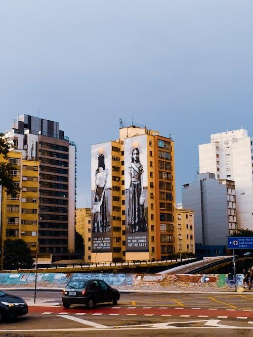 Ingyenes stockfotó alkonyat, autó, belváros témában