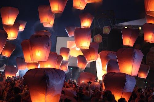 Free stock photo of colors, festival, lantern