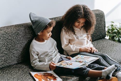 Δωρεάν στοκ φωτογραφιών με african american boy, αδελφή, αδελφός