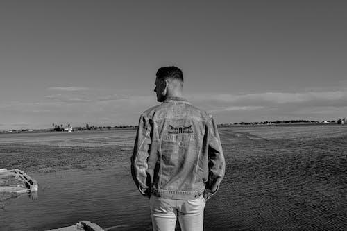 Free stock photo of black and white, lake