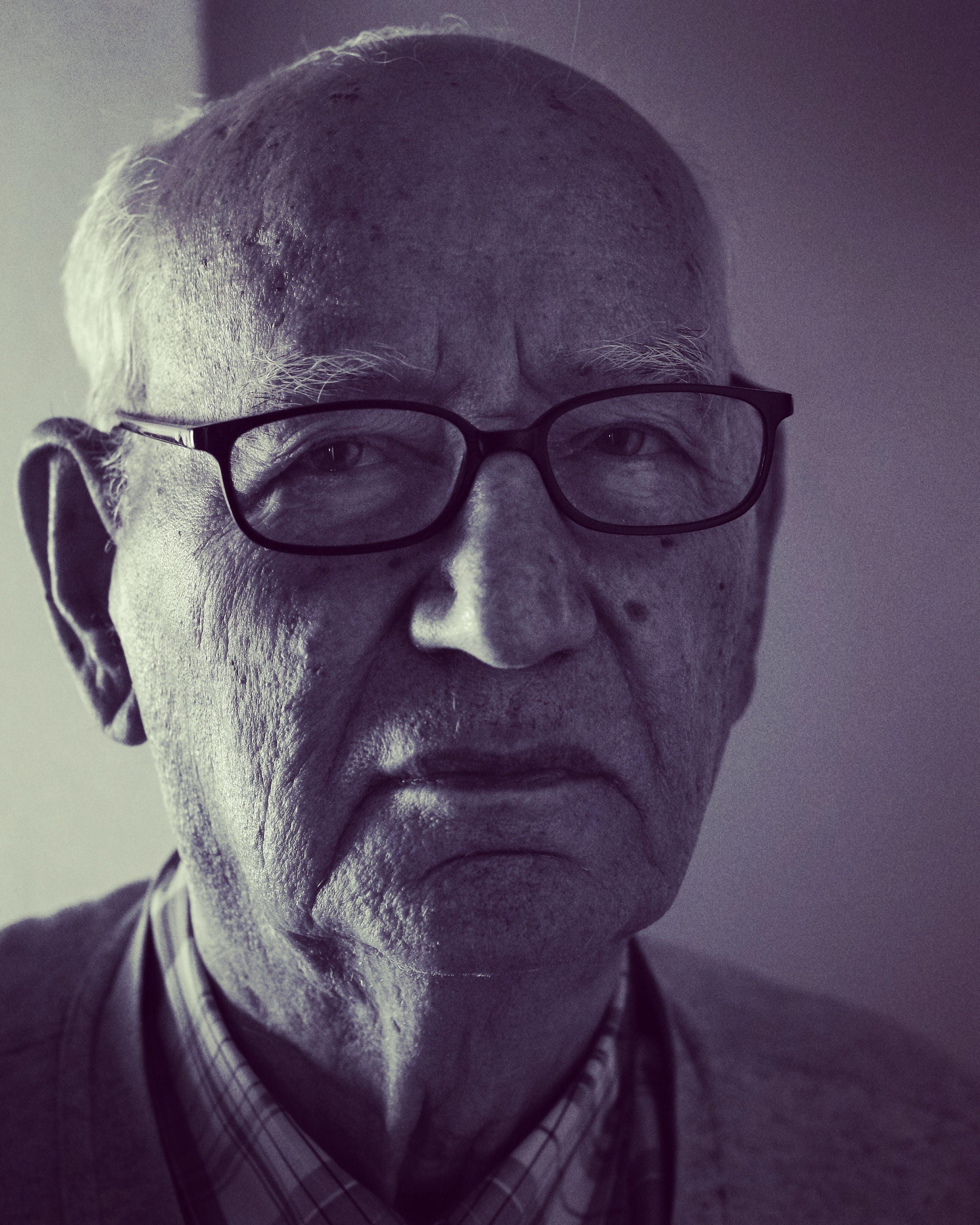 Man in Black Frame Eyeglasses