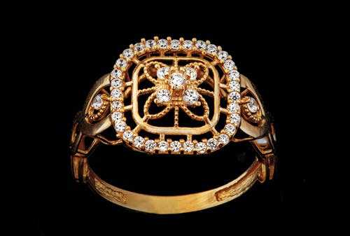 Gold and Silver Floral Ring