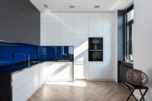 Interior of modern kitchen with contemporary appliances