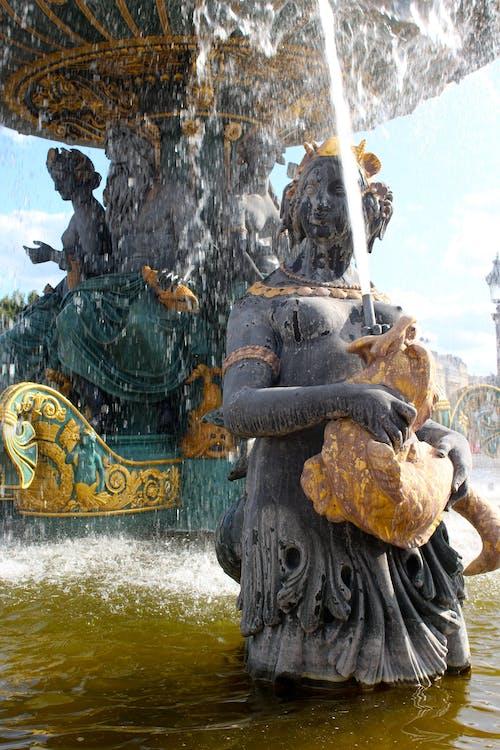 Photos gratuites de fontaine, Fontaine à eau, france