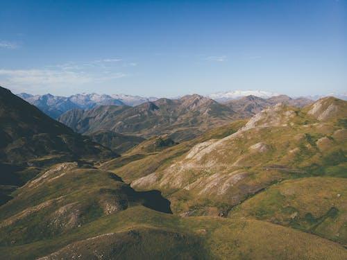 Picturesque mountainous landscape under blue sky