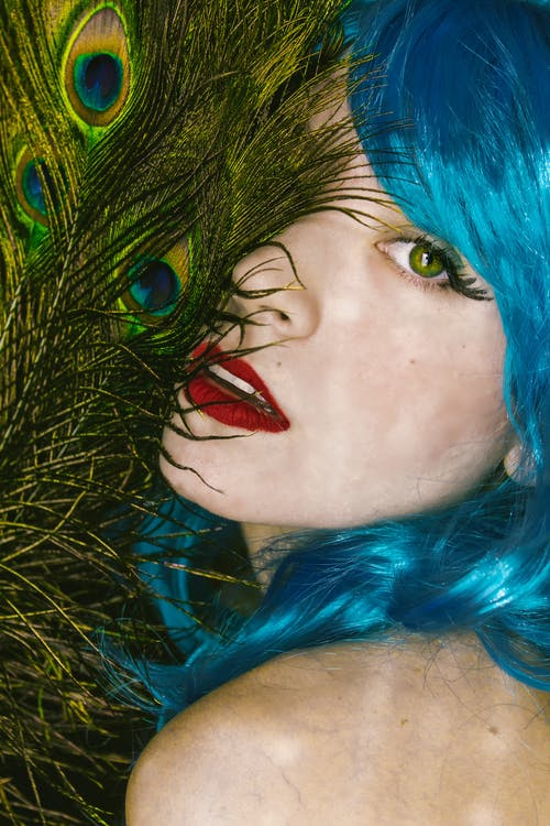 Free stock photo of art, beautiful, blue hair