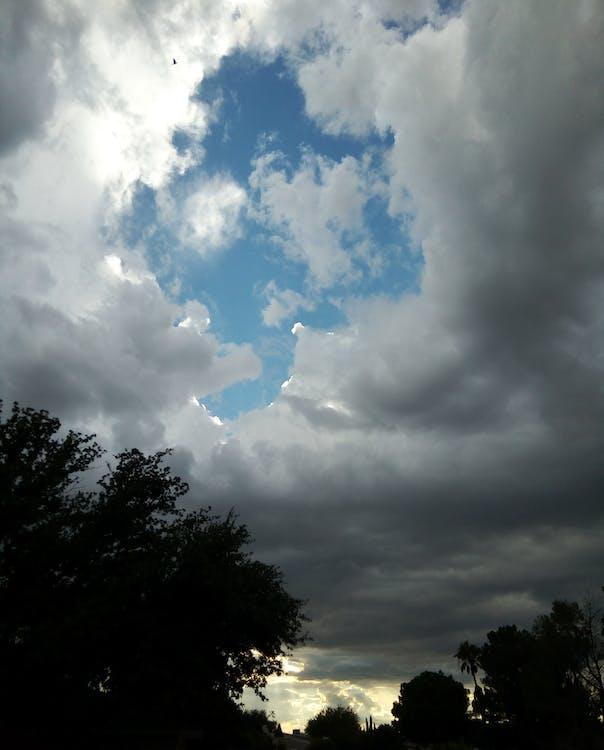 Foto profissional grátis de nuvens no céu