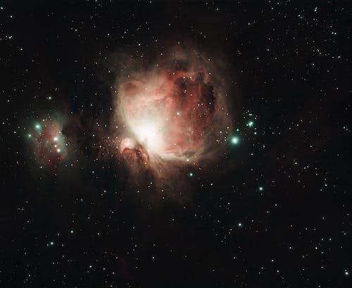 коричнево черная галактика со звездами