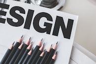 sign, black, pencils