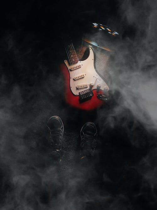 Imagine de stoc gratuită din chitară electrică, concert, cursă, de culise