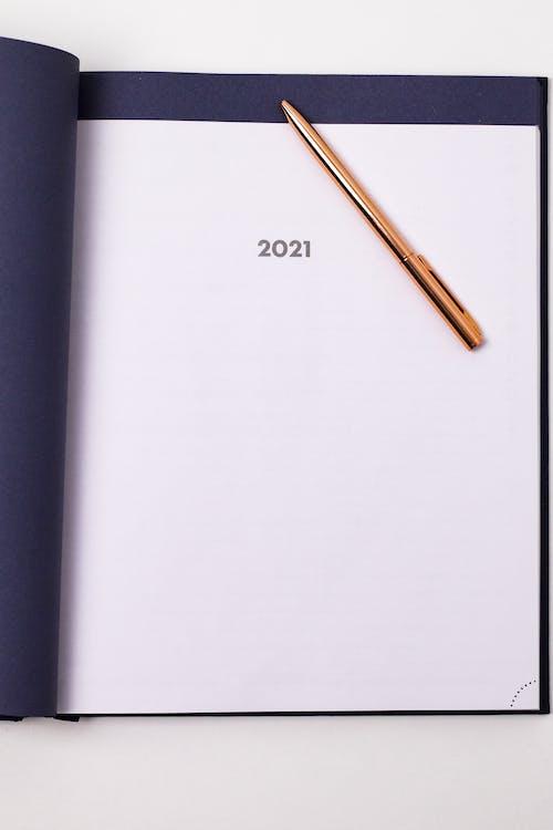 Free stock photo of 2021, blank, book bindings, business