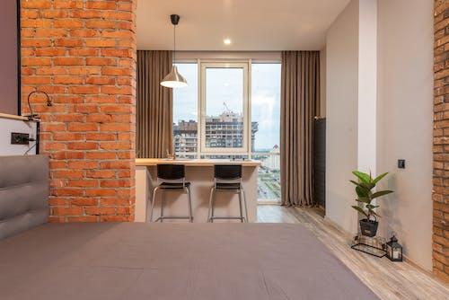 Interior of contemporary studio apartment in daytime