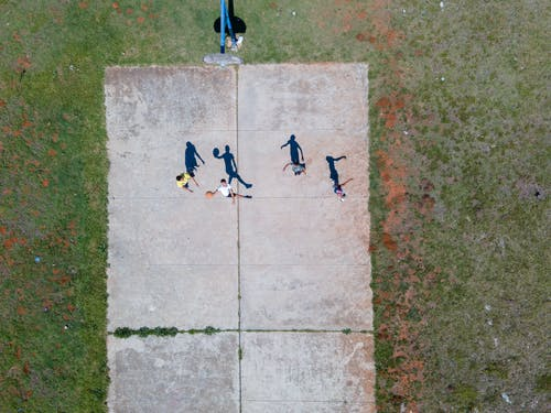 Free stock photo of aerial, basketball, court