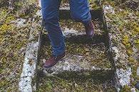 stairs, man, walking