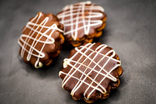 Close-Up Shot of Chocolate Cookies