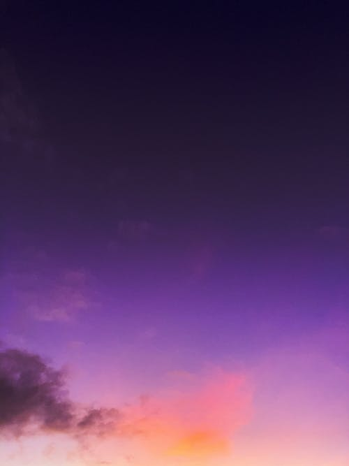 Background of picturesque colorful sundown sky