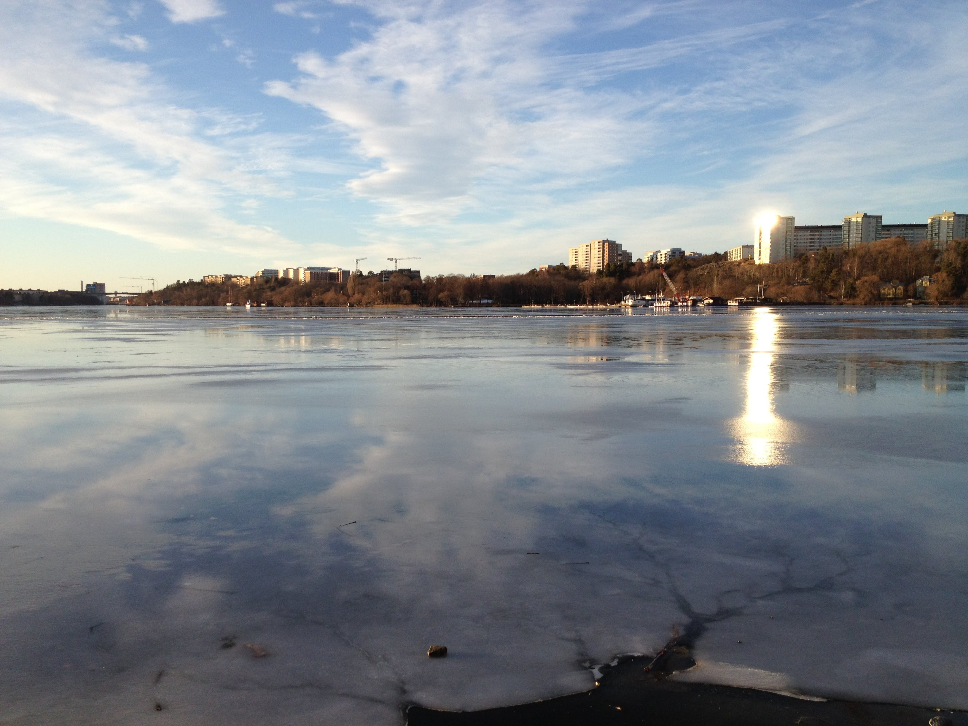 Free stock photo of ice, sky, water