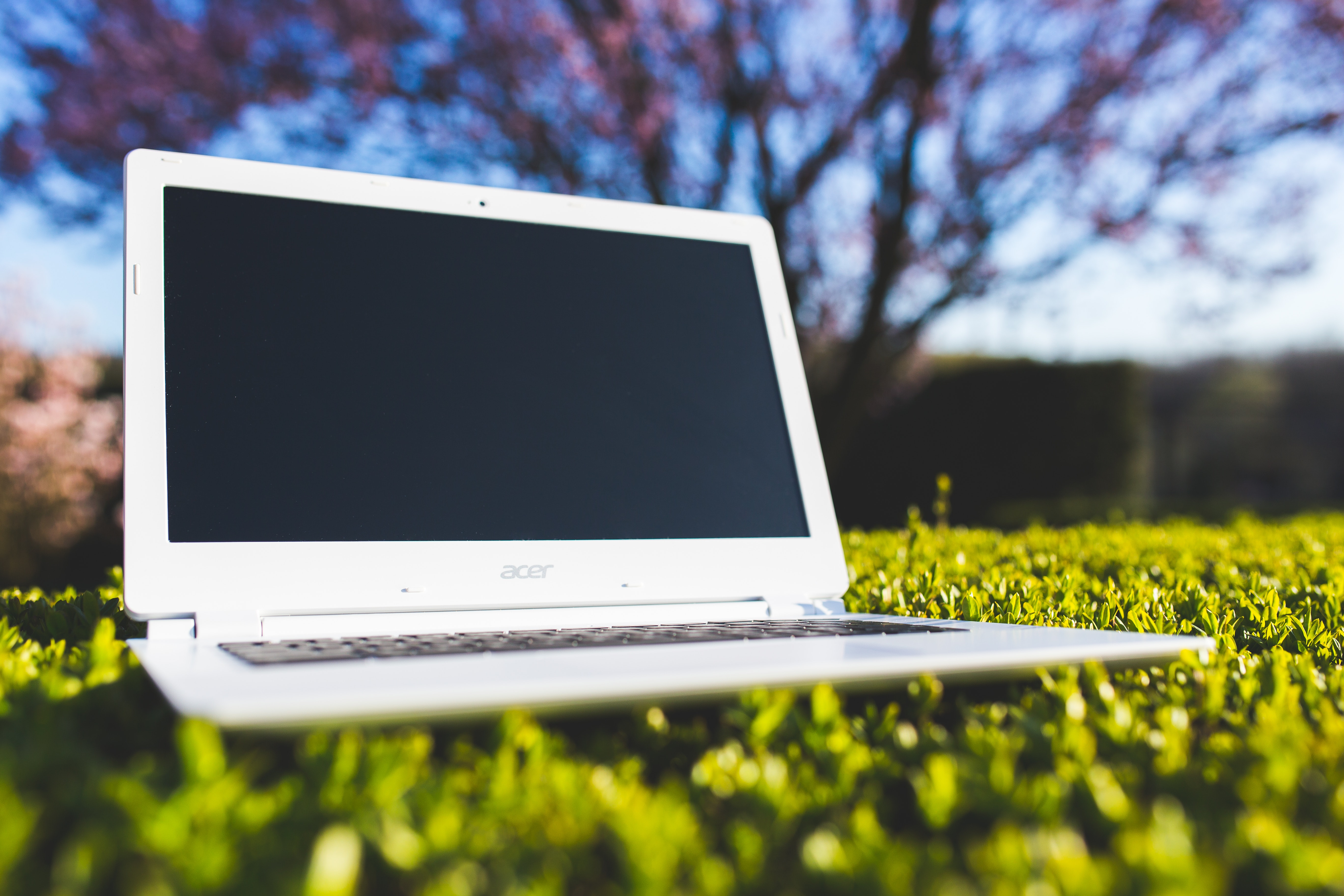 Image of a Chromebook on a sunny day. Are they good laptops for students?