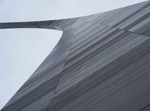Low-Angle Shot of Gateway Arch in St. Louis