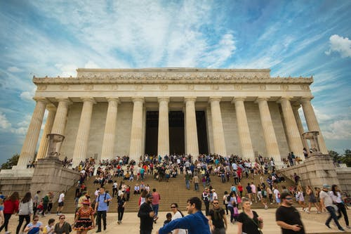 Free stock photo of abraham lincoln, district of columbia, lincoln memorial