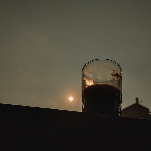 Free stock photo of coffee, coffee art, golden sun