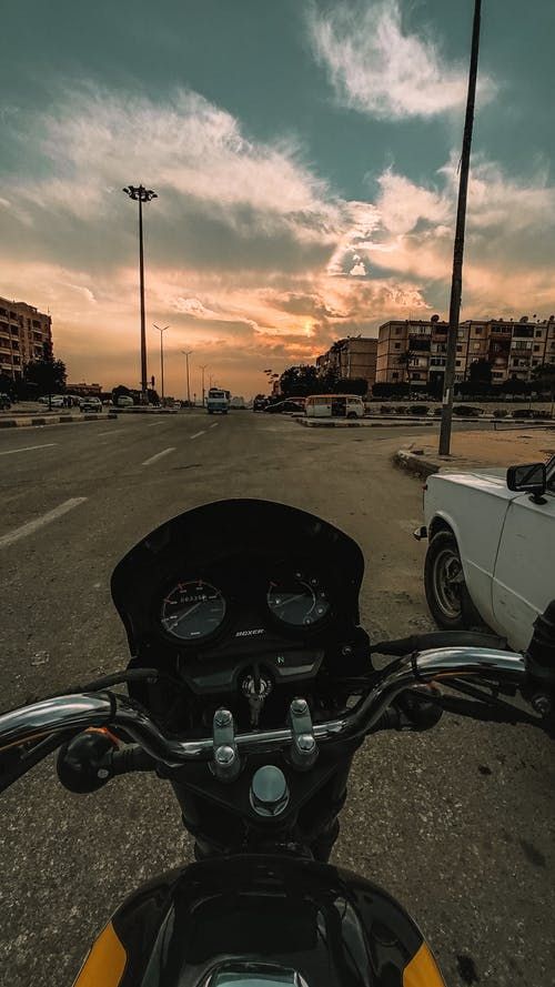 Free stock photo of motor bike, road bike, sunset