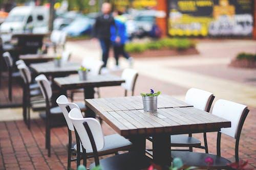 Základová fotografie zdarma na téma křesla, město, oběd, restaurace