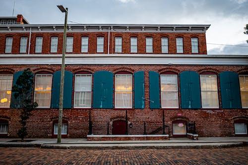 Free stock photo of brick building, windows