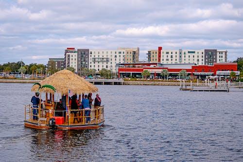 Free stock photo of tiki boat, water