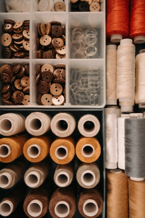 Stacks of Sewing Materials