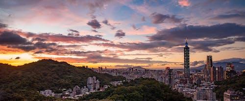 Free stock photo of clouds, metropolis, panorama