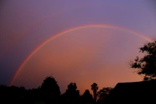 Free stock photo of sunset rainbow