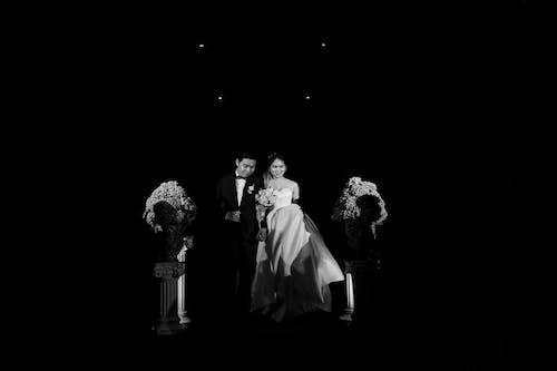 Free stock photo of art, bride, couple