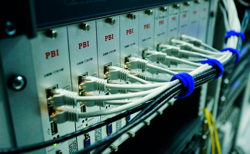 Close Up Photo of Ethernet Cables on Network Switch