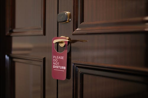 경고 표시, 문 손잡이, 방해하지 마의 무료 스톡 사진