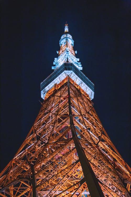 건축, 건축 양식, 도쿄 타워의 무료 스톡 사진