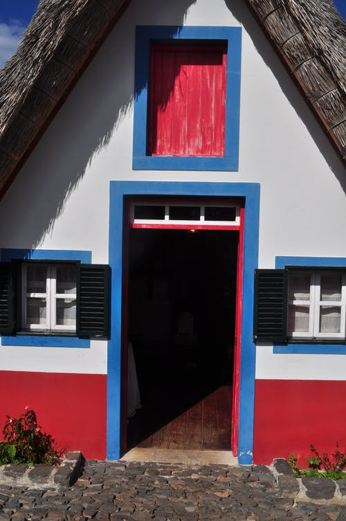 Red White and Blue House