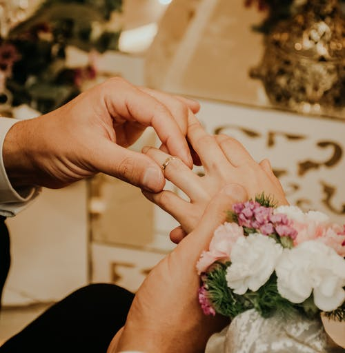 Man Putting the Ring on Her Wife