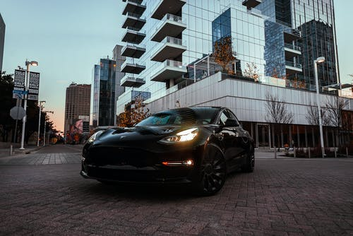 Free stock photo of Black Tesla, car, car photo