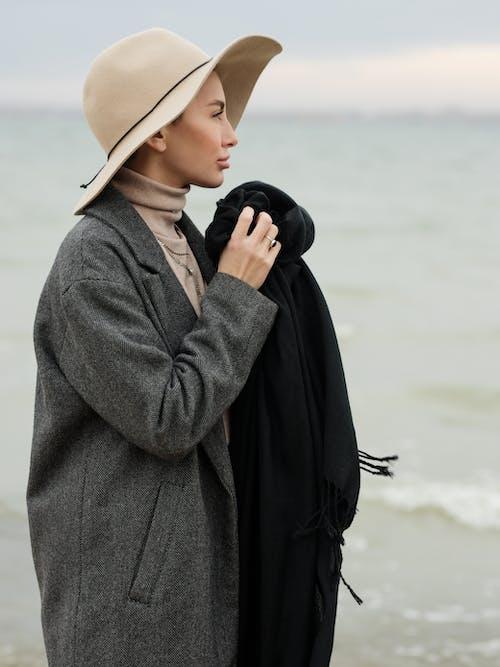 Free stock photo of beach, fashion, lid