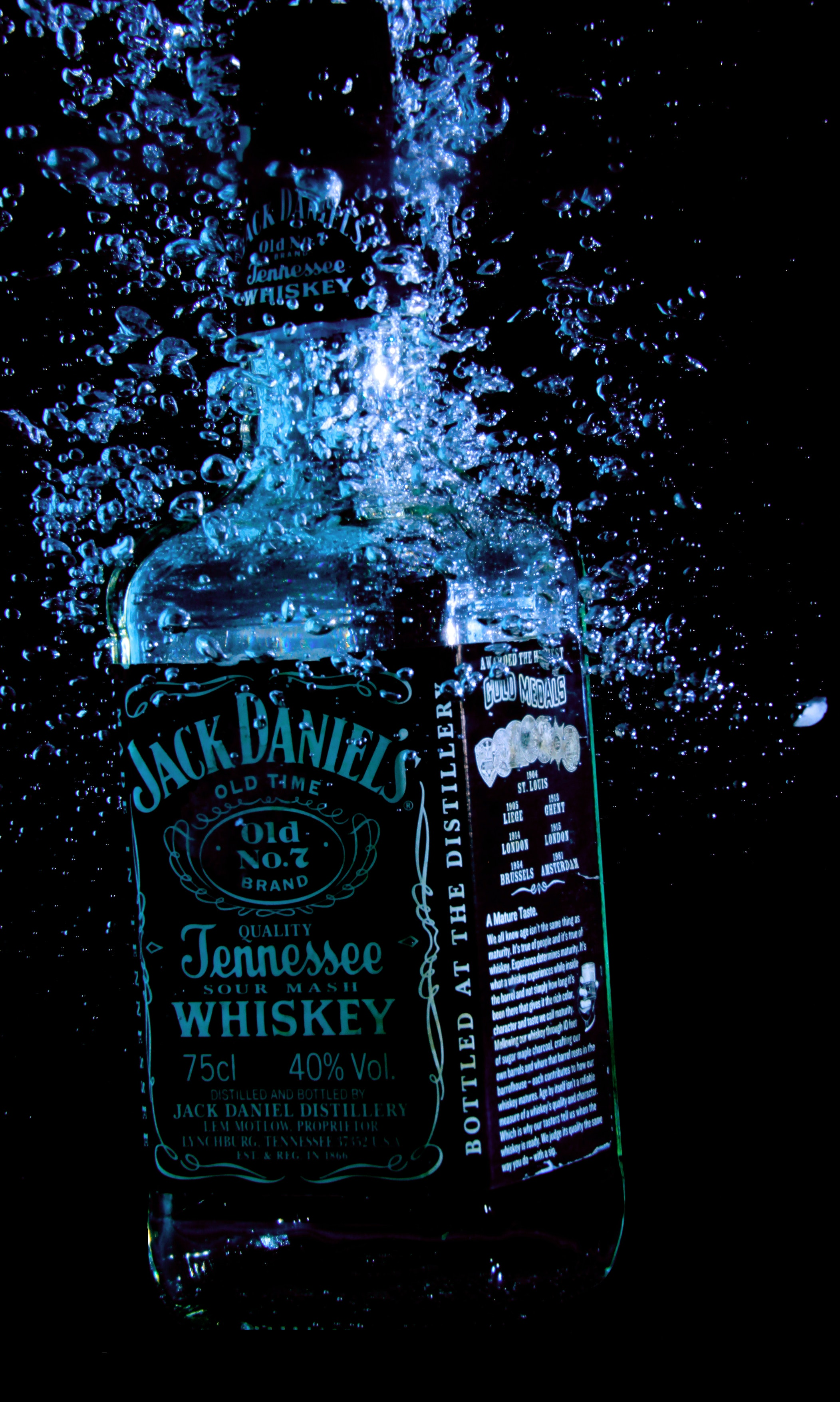 jack daniels old time jennesse whiskey 75 cl free stock photo