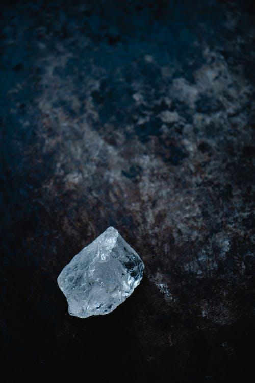 Crystal on Black Surface