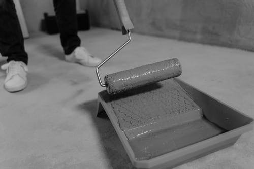 Close Up Photo of Paint Roller
