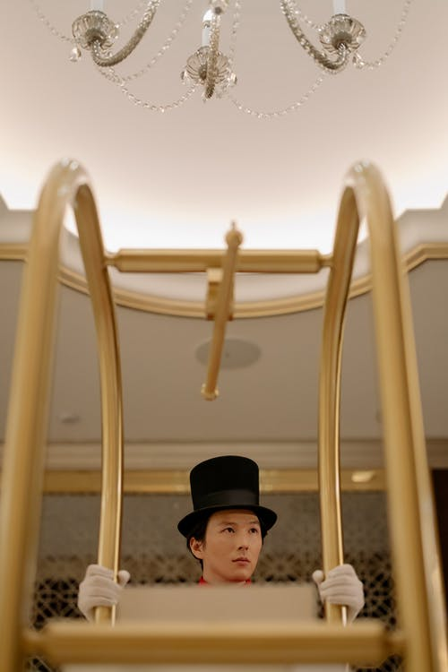 Man in Black Hat and Black Cap