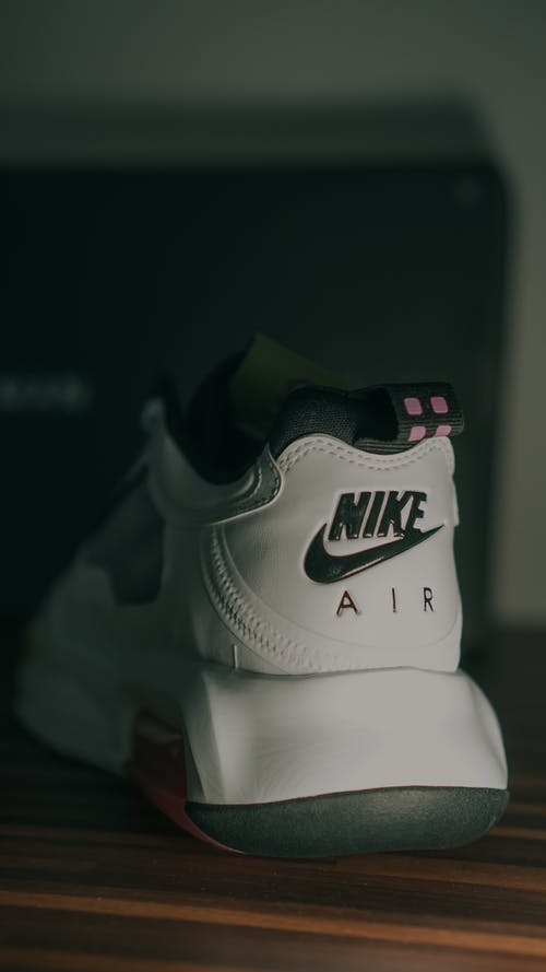 White and Black Nike Air Shoe
