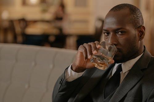 Man Drinking Whiskey