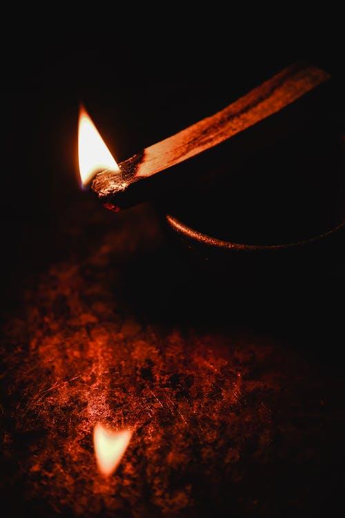Close Up Photo of Burning Wooden Stick